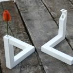 Vaso a forma di forma impossibile, escher, design