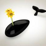 Una vaso di design a forma di balena