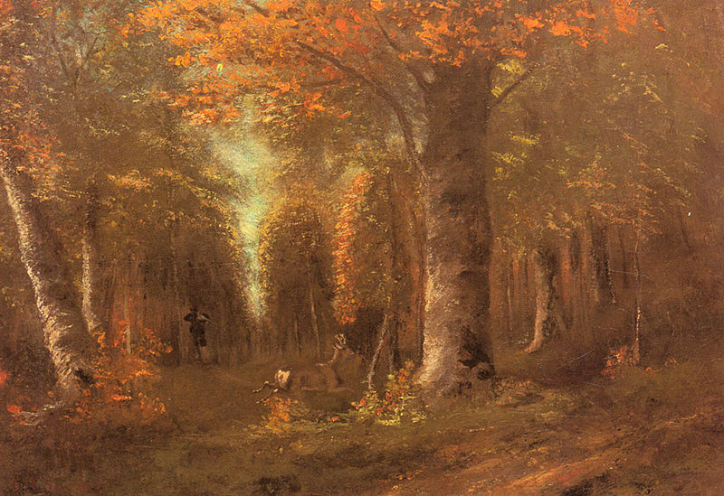 Foliage Gustave-Courbet-Forest_in_Autumn