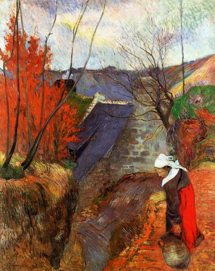 Paul Gauguin Breton Woman with Pitcher 1888