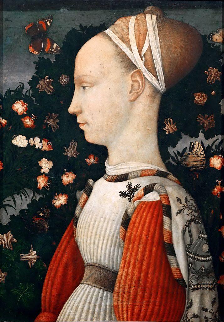 Nel Ritratto di principessa estense di Pisanello, (1435), è stato proprio l'elemento botanico, tra cui il ginepro apuntato alla veste (per un'altra Ginevra) a far capire agli storici che il quadro era stato realizzato dopo la morte della giovane.