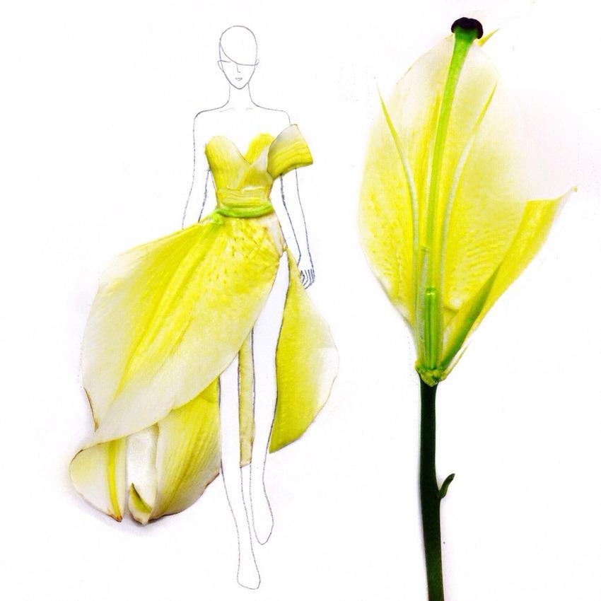 vestito di petali