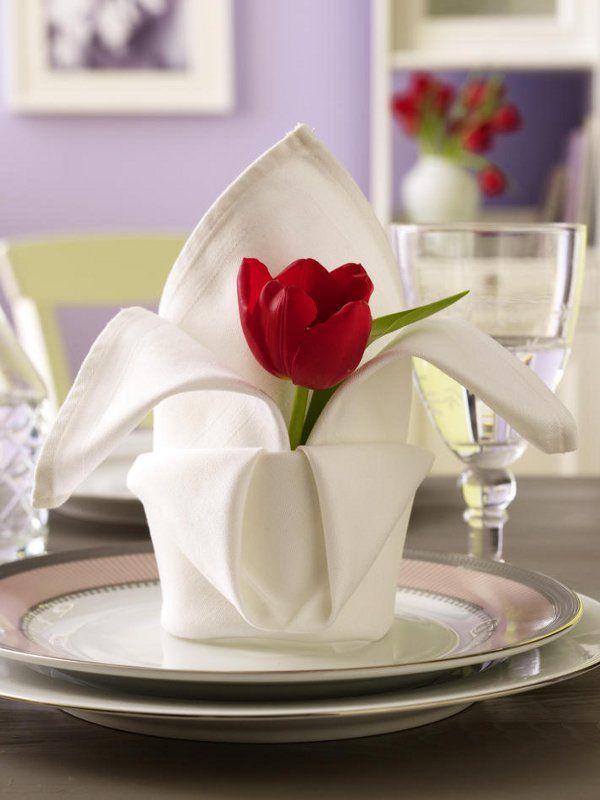 Decorazione tavola fiori
