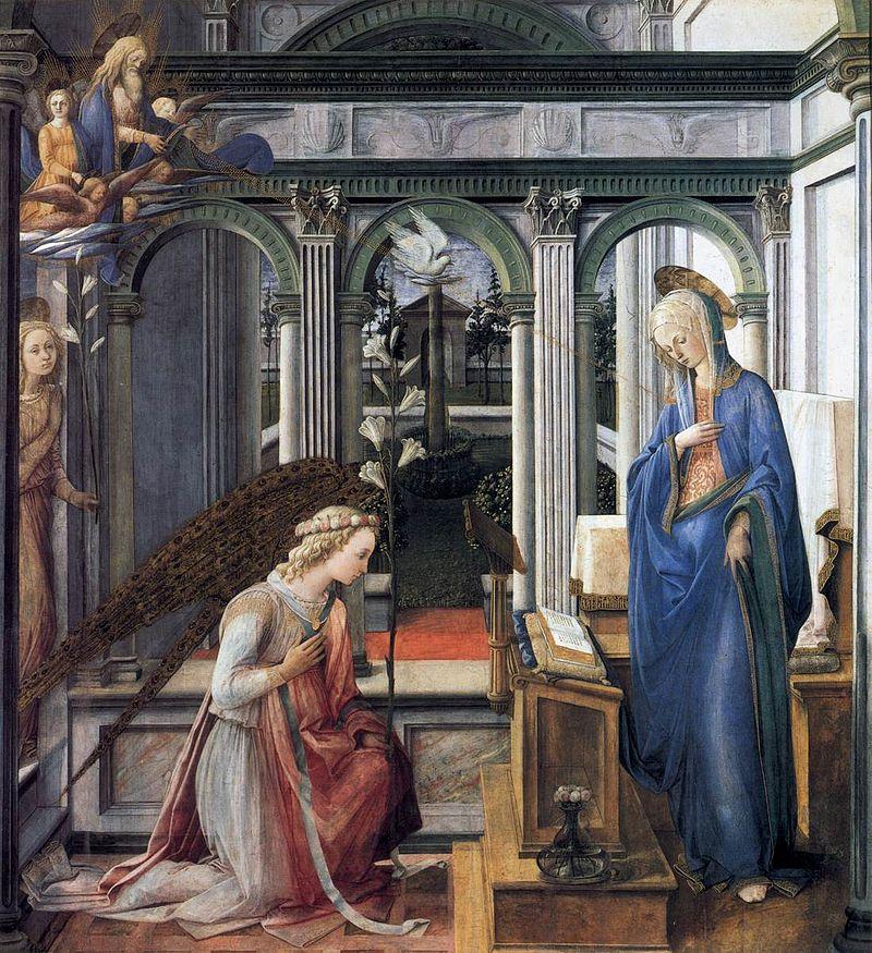 Annunciazione delle Murate, Filippo Lippi, 1450.
