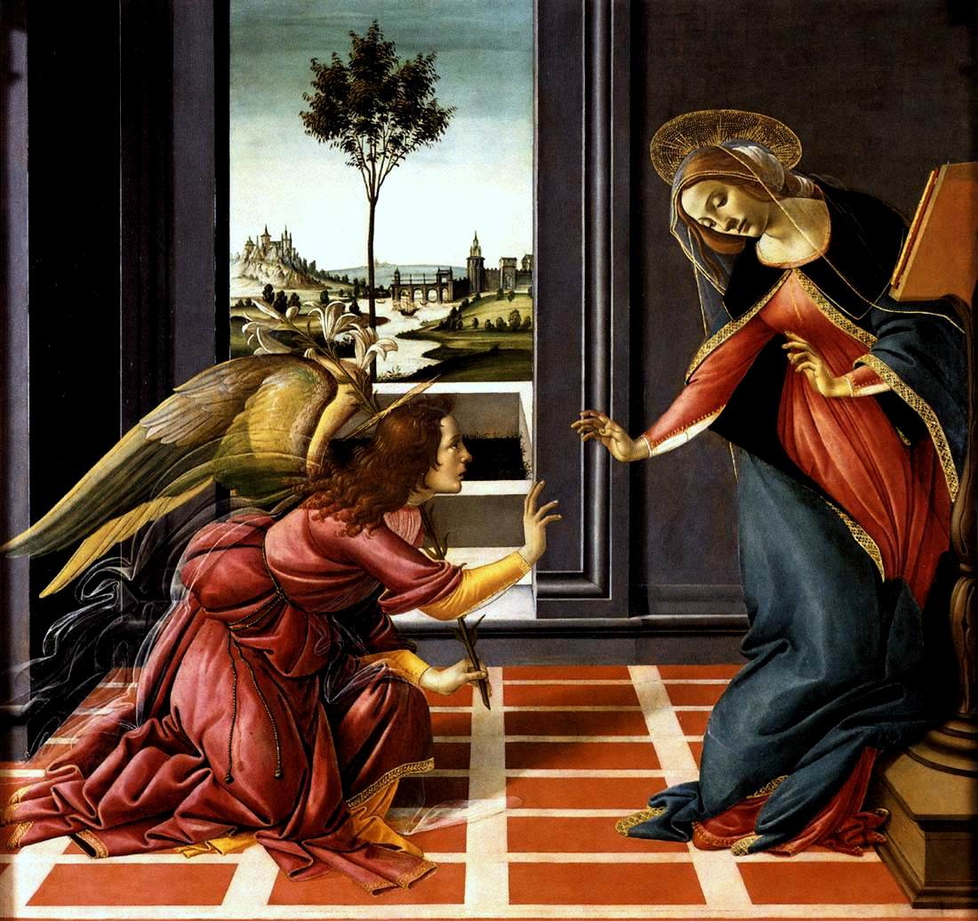 Quadro Botticelli-Annunciazione-Uffizi