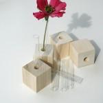 Vaso a forma di cubo