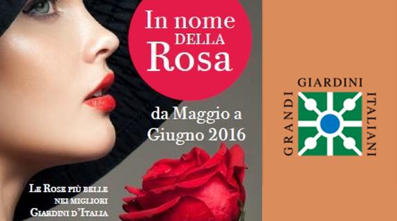 In nome della rosa - Grandi Giardini Italiani flyer