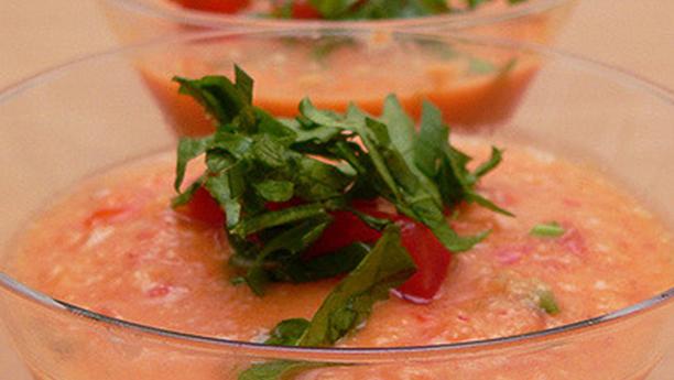 Gazpacho di cetrioli, pomodoro e peperoni
