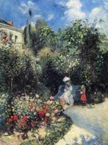Il giardino a Pontoise. Pissarro