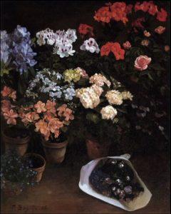 Vaso di fiori. Bazille