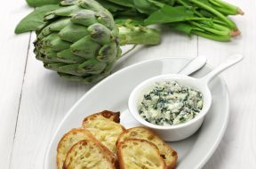 Crema di carciofi e spinaci