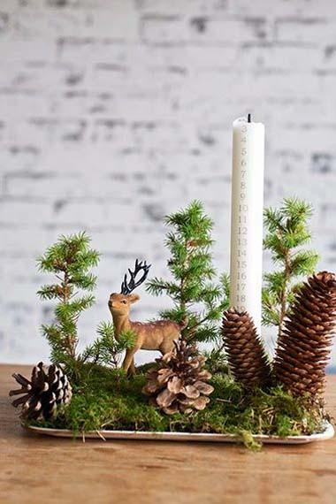 30 semplici idee fai da te per la tavola natalizia fito - Addobbi natalizi per la tavola fai da te ...