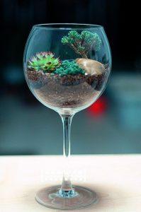 Bicchiere come vaso