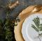 decorazione fai da te del piatto con pianta