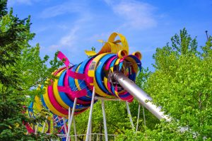 Jardin du dragon parc de la villette Parigi