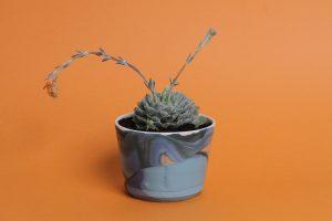 Vaso decorato in terracotta