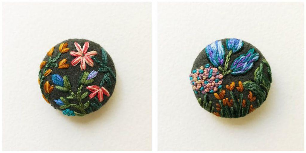 Bottoni in feltro con fiori 13
