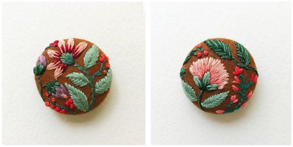 Bottoni in feltro con fiori 15