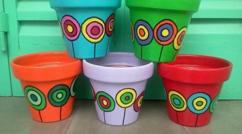 13 idee per decorare i vasi in terracotta e non solo fito for Decorazione vasi