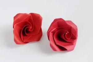 Origami Rosa fiore photo