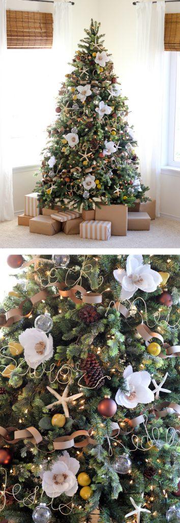 10 idee per decorare l 39 albero di natale con i fiori fito - Idee x decorare l albero di natale ...
