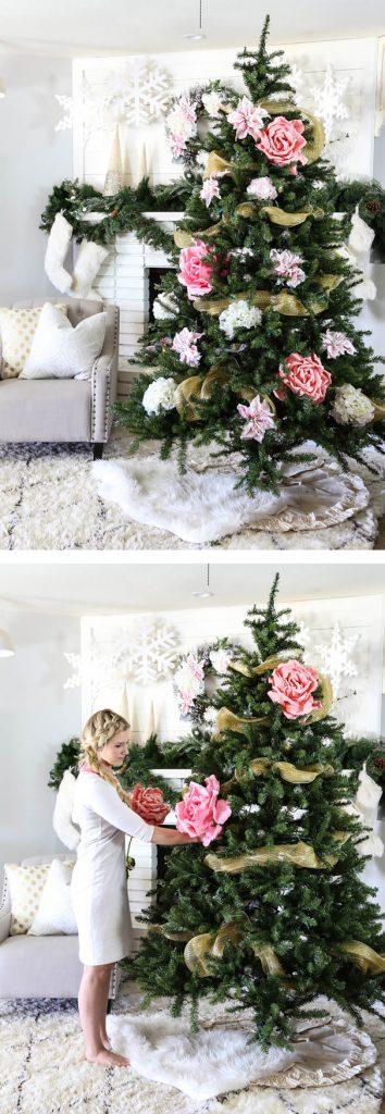 decorazioni alberi natale fiori 02