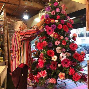 decorazioni alberi natale fiori 01