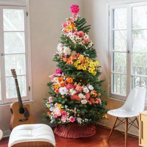 decorazioni alberi natale fiori 09