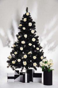 decorazioni alberi natale fiori 07