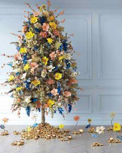 decorazioni alberi natale fiori 06