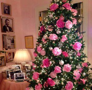 decorazioni alberi natale fiori 04