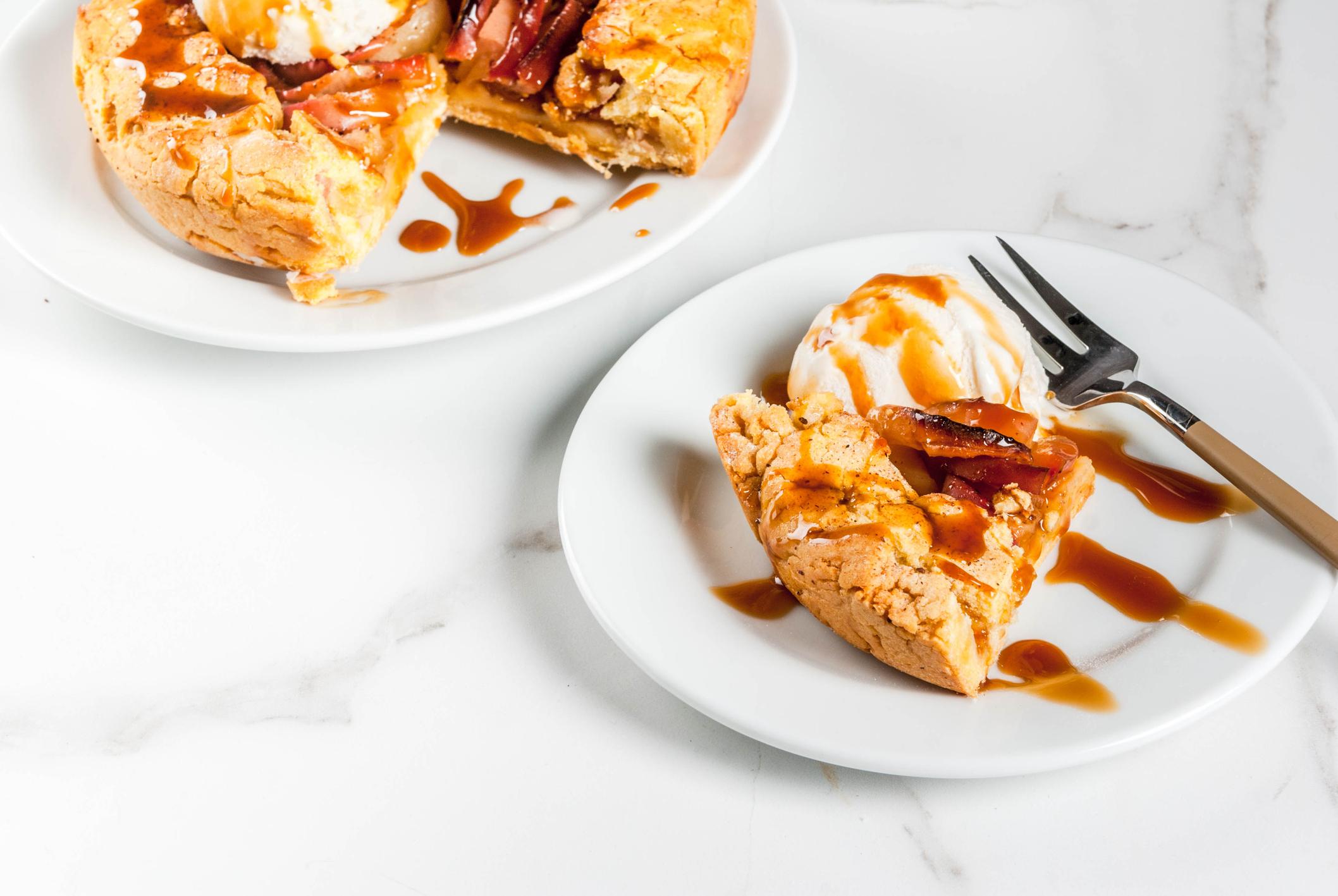 Fetta di torta di mele ricetta