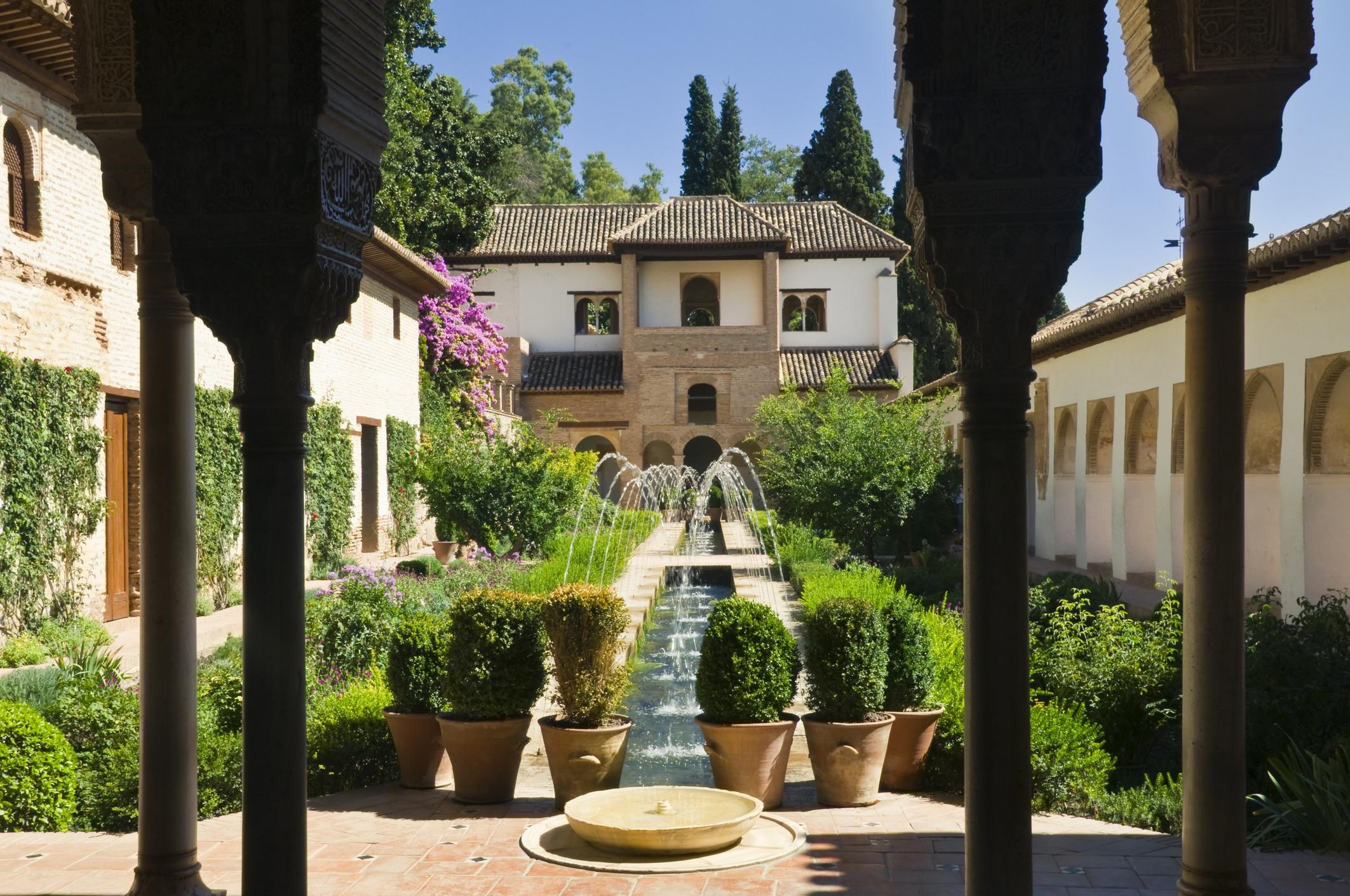 Alhambra, fontane generalife