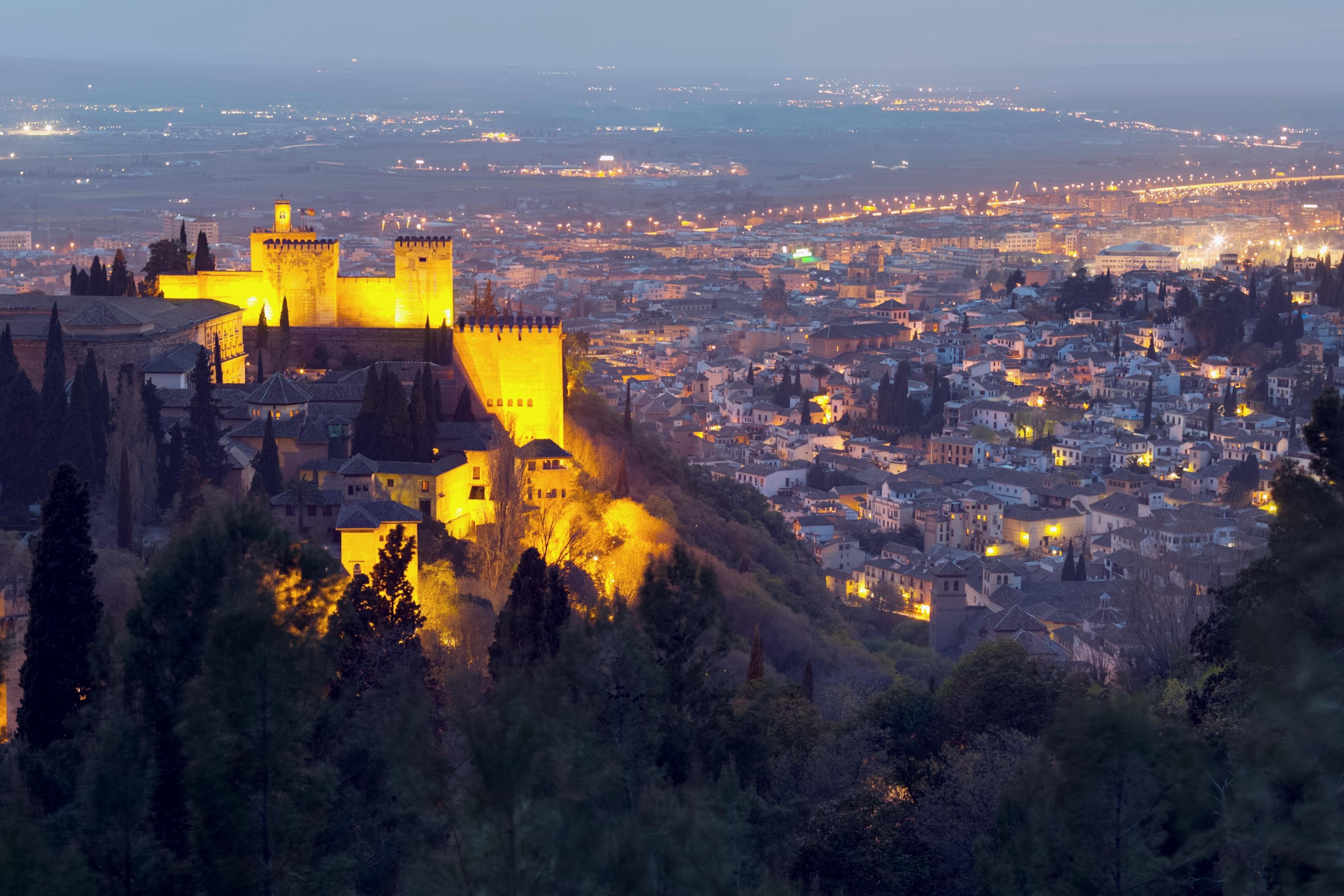Vista notturna Alhambra