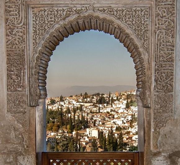 Finestra con paesaggio Alhambra