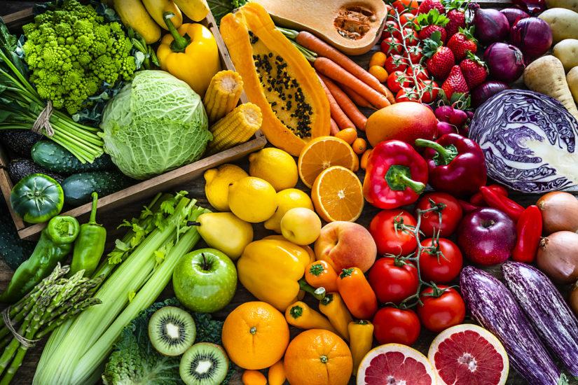 Frutta e verdura colorata