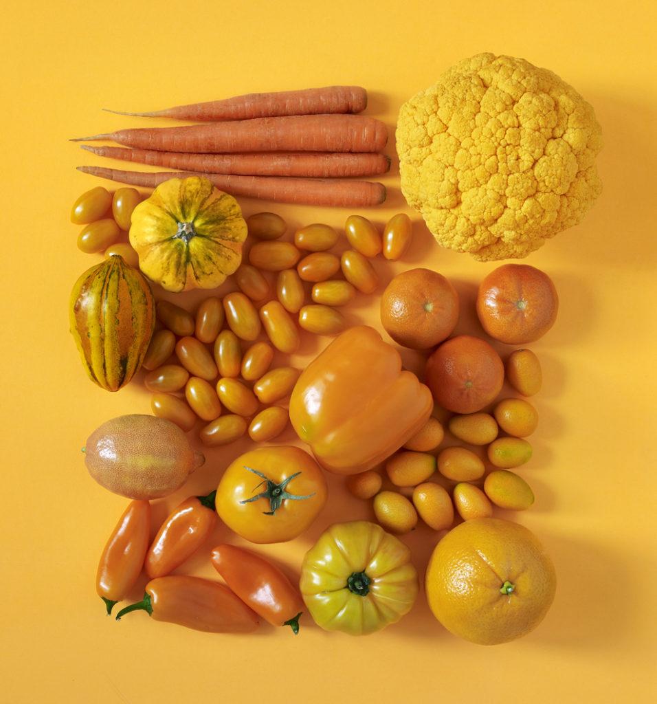 Frutta e verdura giallo-arancione