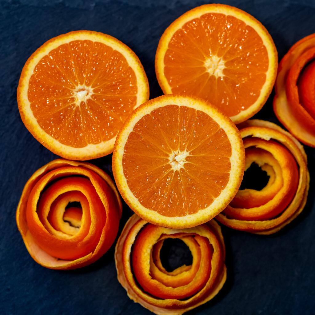 Rose con bucce d'arancia