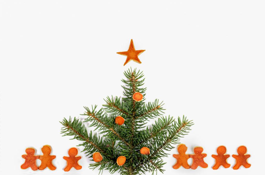 Idee decorazioni natalizie con bucce di mandarino