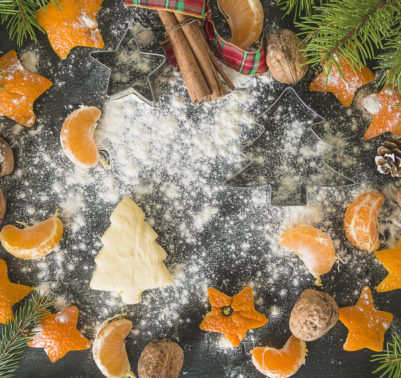 Idee di decori natalizi con mandarini
