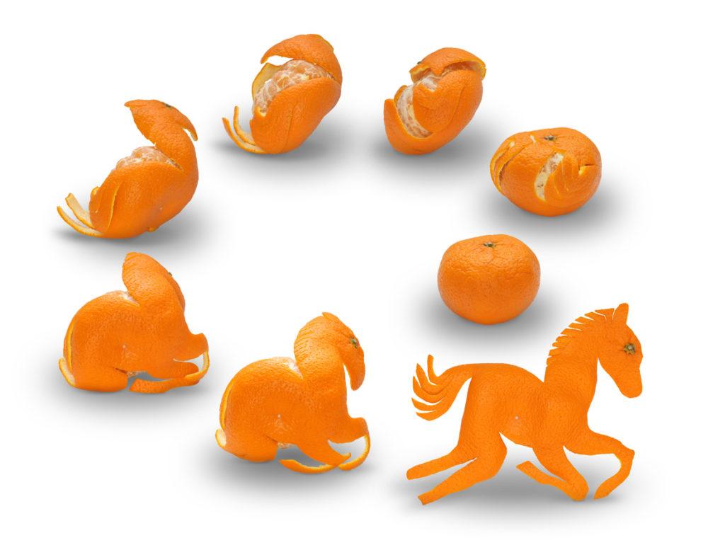 Origami con mandarini