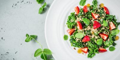 quinoa e fragole